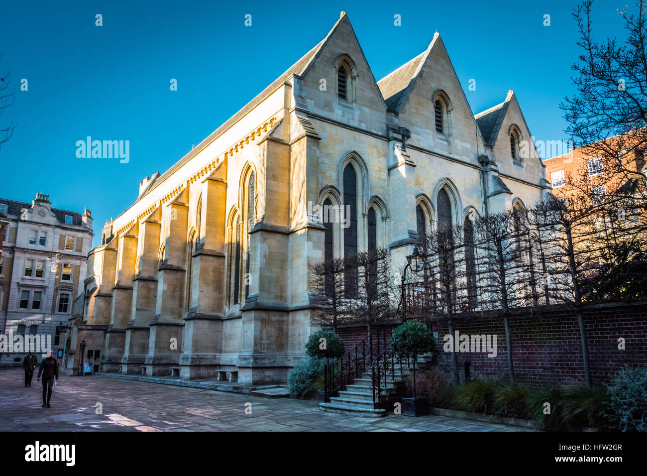 Temple Church, Inns of Court, London, UK, - Stock Image