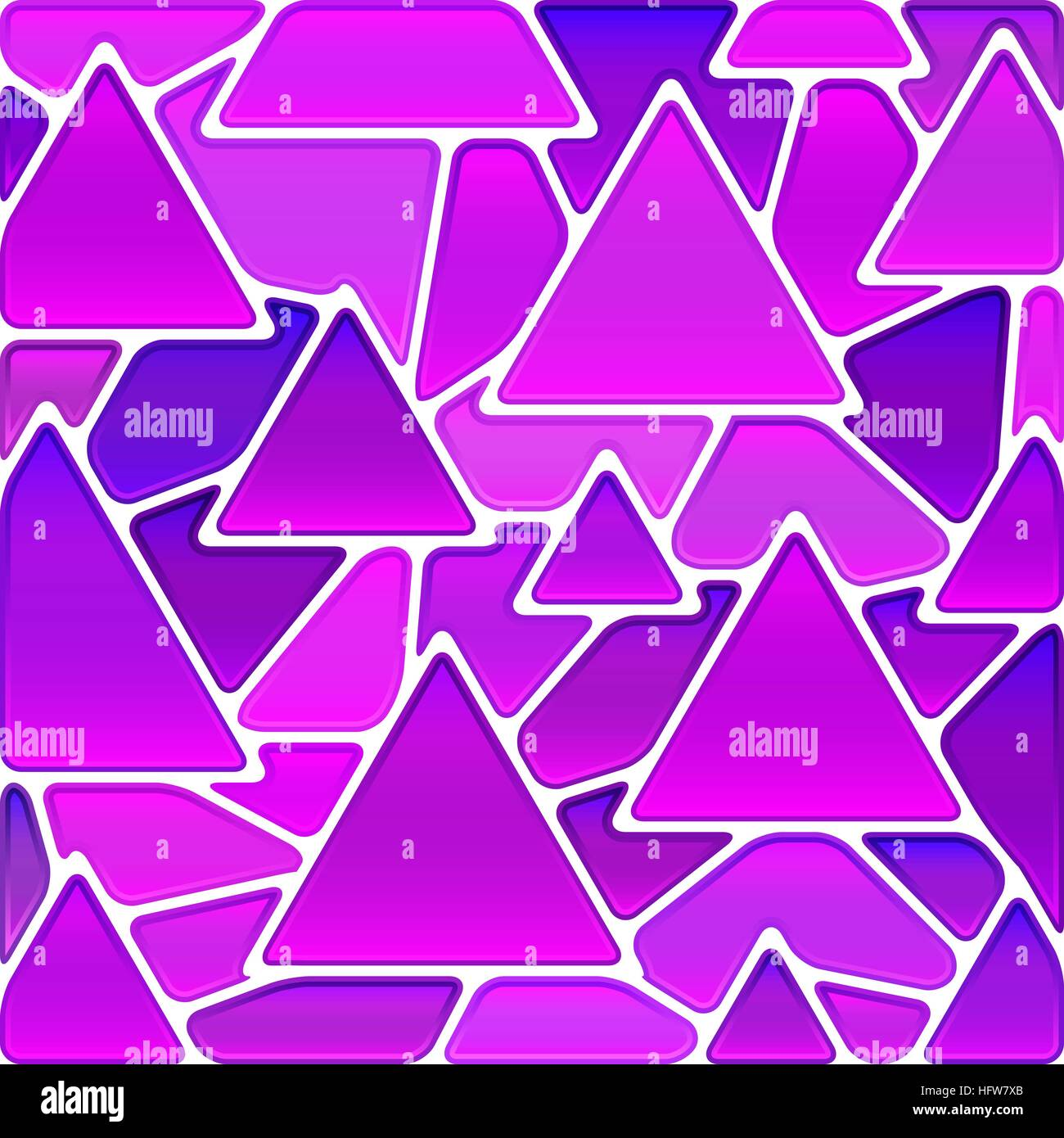 abstract vector stained-glass mosaic background - magenta triangles - Stock Vector