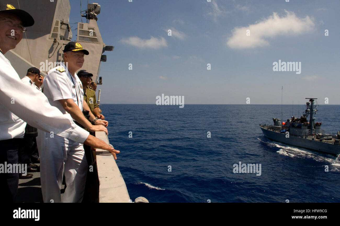 Commander In Chief Israeli Navy Vice Admiral Stock Photos