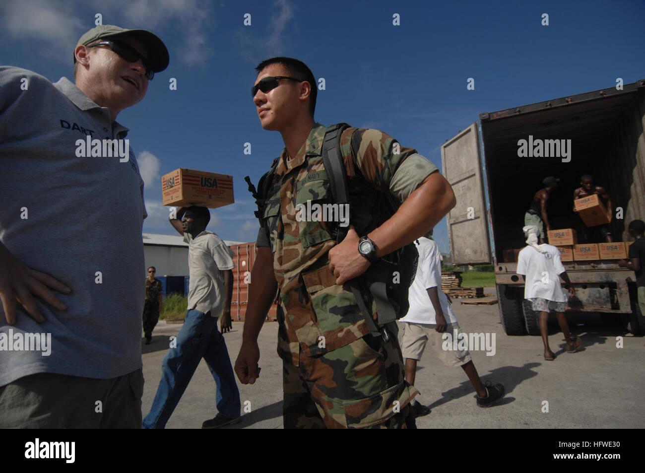 080916-N-2653P-184  PORT-AU-PRINCE, Haiti (Sept 16, 2008) Lt.j.g. Albert Gembara, Officer-in-Charge of Maritime Stock Photo