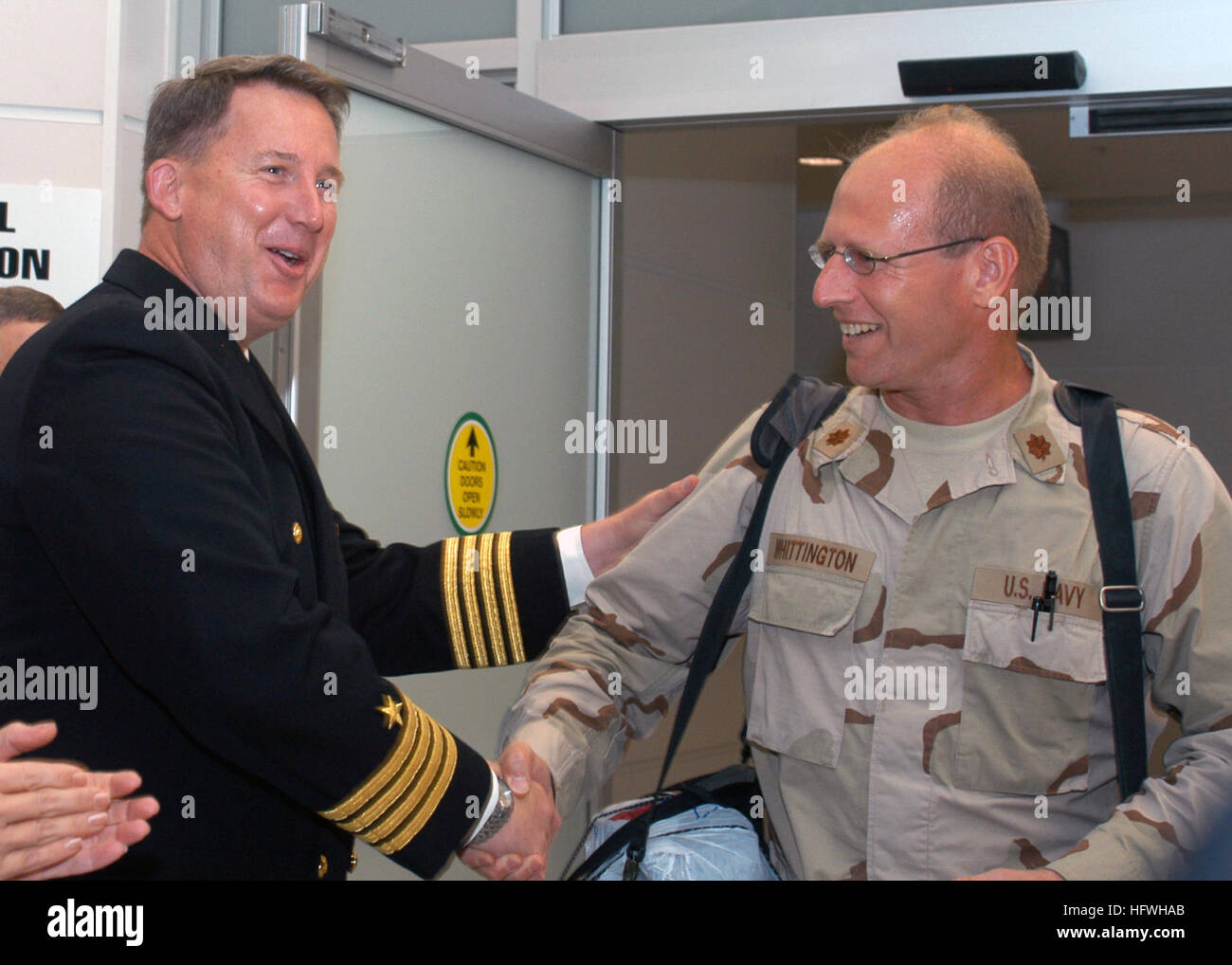 081113-N-2555T-011 BALTIMORE, Md. (Nov. 13, 2008) Captain Jeffrey L. McKenzie, commanding officer of Expeditionary - Stock Image