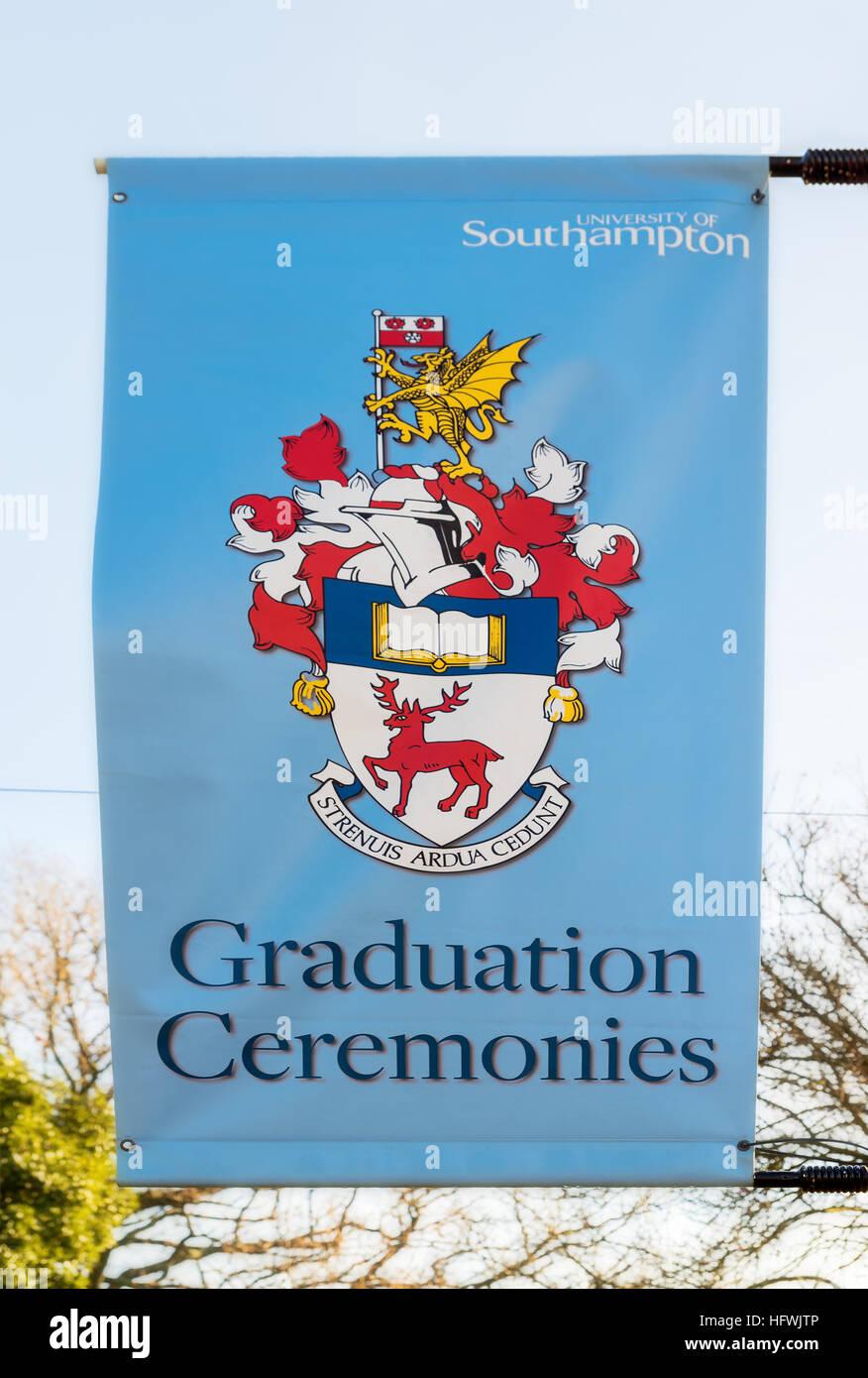 Graduation ceremonies. - Stock Image