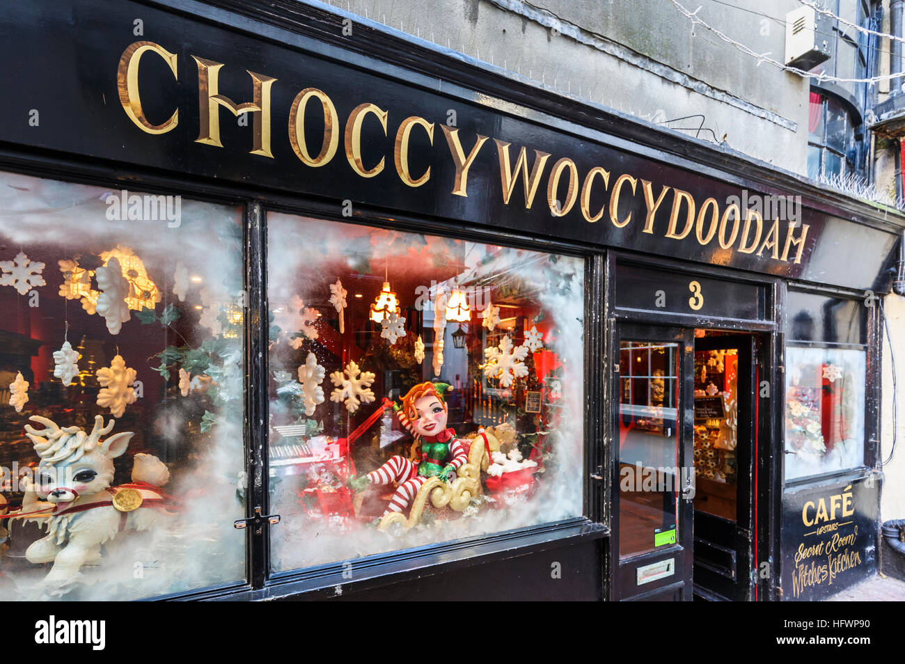 Choccywoccydoodah Shop Front And Windows In The Lanes