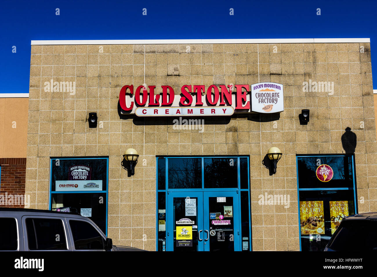 Lafayette - Circa December 2016: Cold Stone Creamery Ice Cream Parlor Location. Cold Stone is owned and operated Stock Photo