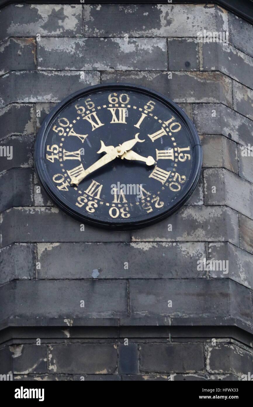 timeless clock december 2016 edinburgh scotland stock photo