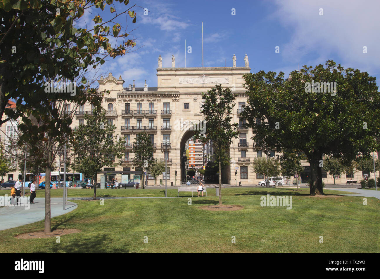 Banco de Santander in Santander Cantabria Spain Stock Photo