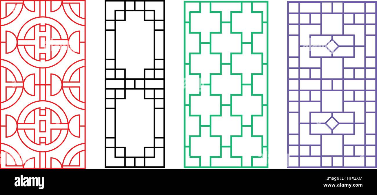 Chinese Fence Design Chinese ornament for door window wall and fence vector stock chinese ornament for door window wall and fence vector workwithnaturefo
