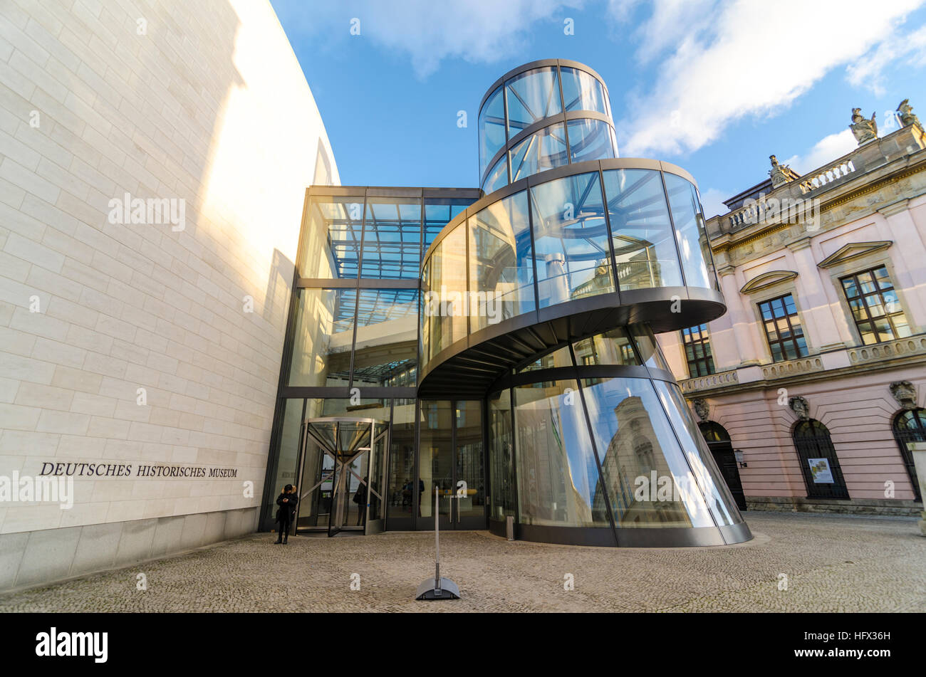 Deutsches Historisches Museum extension by Chinese American architect I. M. Pei, German Historical Museum, DHM, - Stock Image