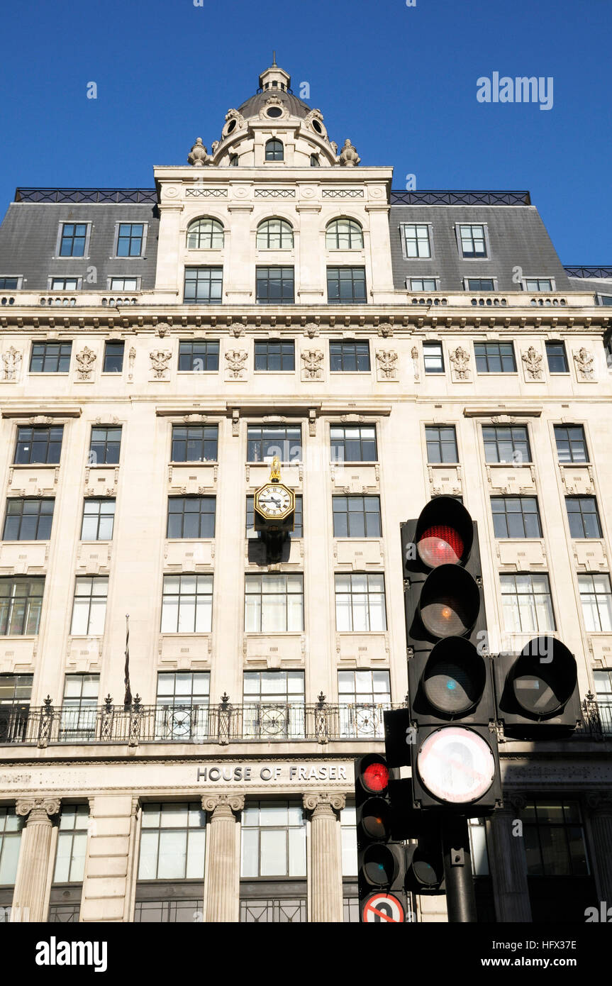 House of Fraser on King William Street, City of London, UK - Stock Image