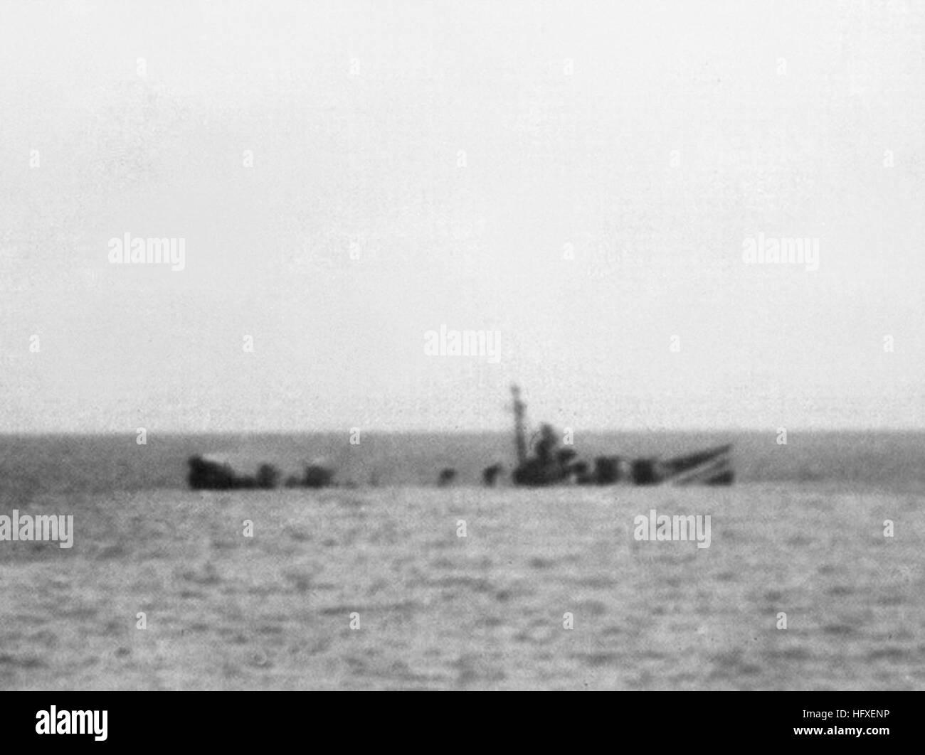 Uss Corry Dd 463 Sinking Off Utah Beach 6 June 1944 Stock Photo