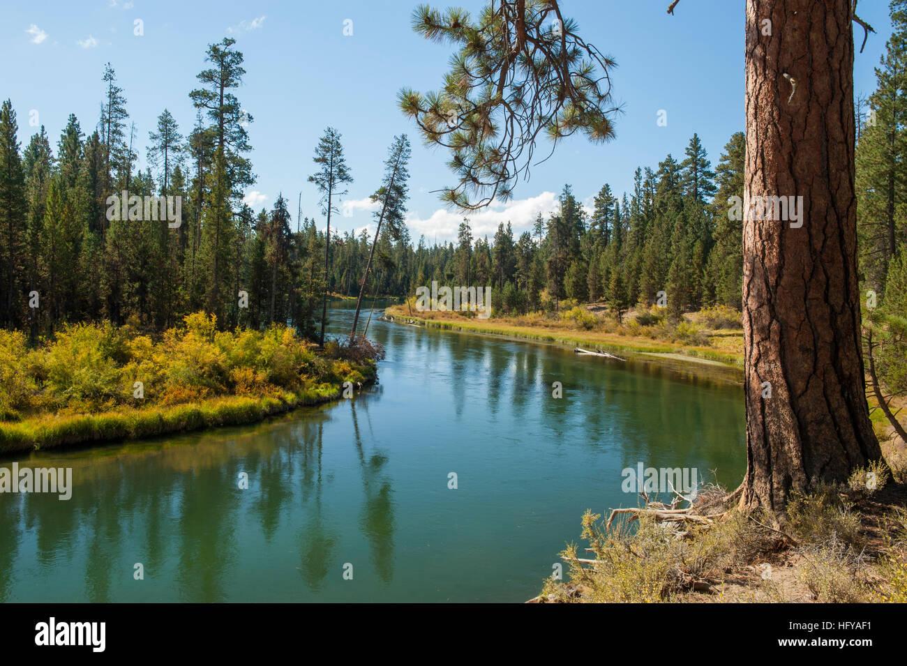 Oregon's Deschutes River at Bull Bend - Stock Image