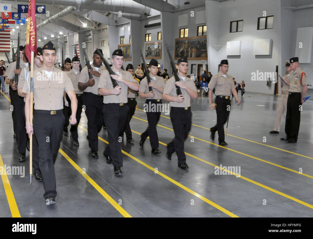 110312-N-IK959-754 NAVAL STATION GREAT LAKES, Ill. (March 12, 2011) The Zion-Benton (Ill.) High School Navy Junior - Stock Image