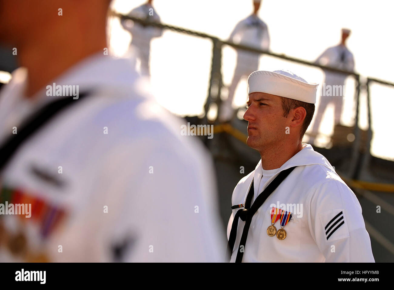 110729-N-YR391-004 MAYPORT, Fla. (July 29, 2011) Seaman Cody Monroe, assigned to the guided-missile frigate USS - Stock Image