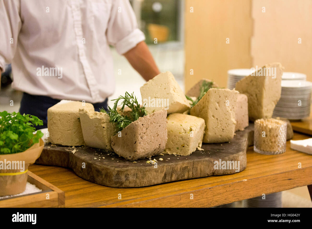 Blocks of Halvah of various flavours - Stock Image