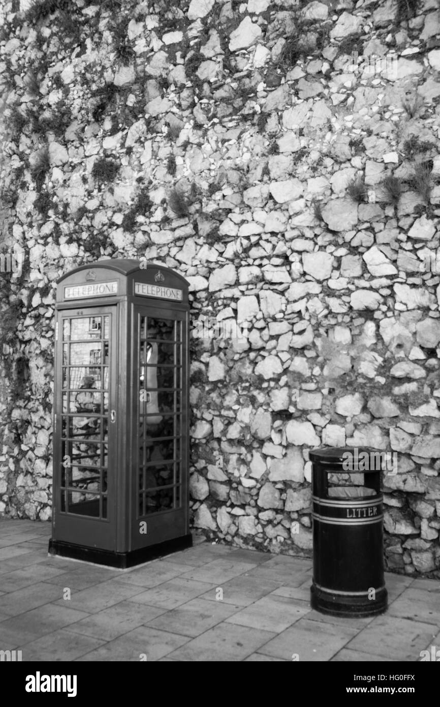 British telephone box. Gibrlatar,  UK overseas territory - Stock Image