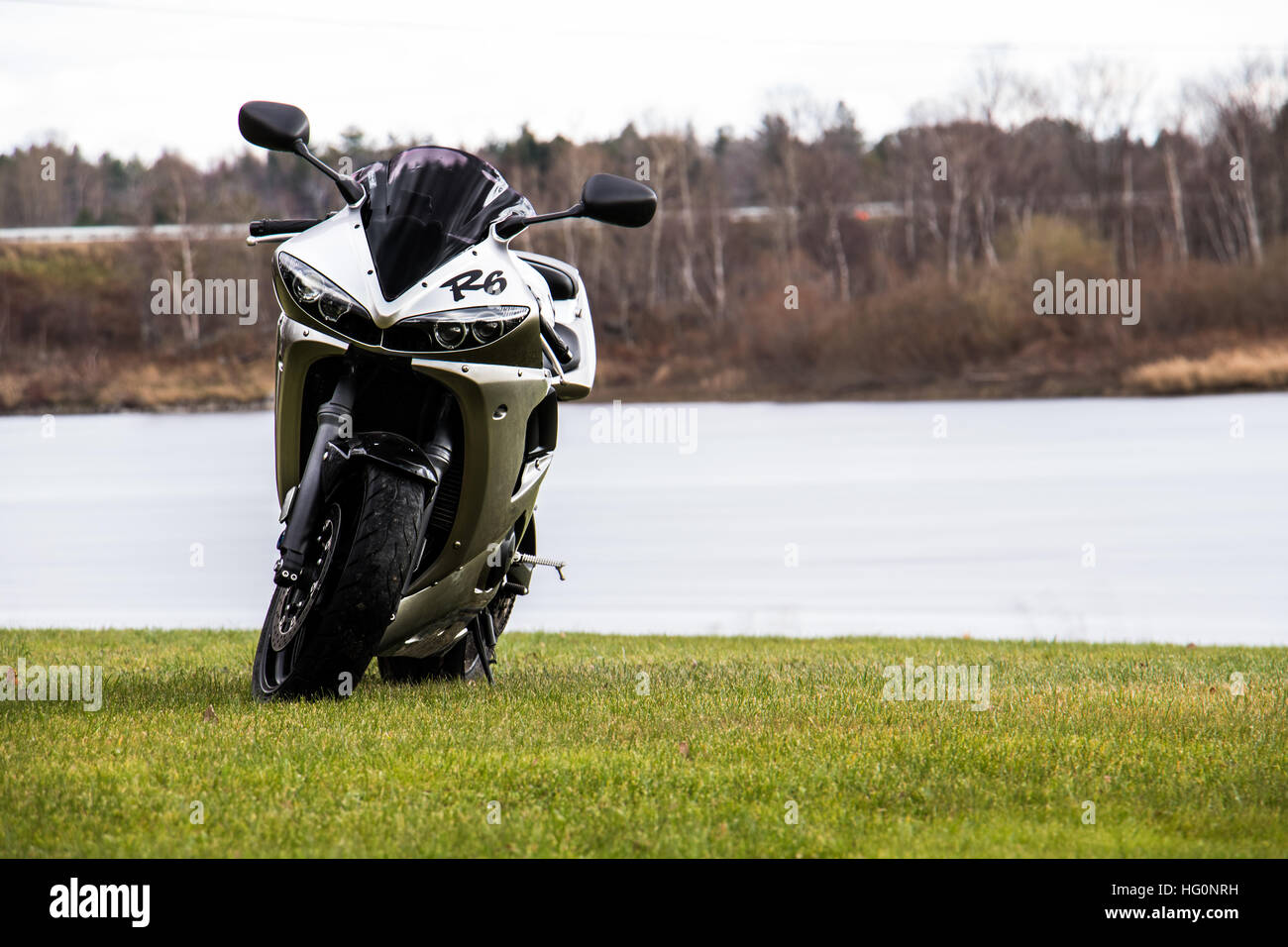Peaceful motorcycle - Stock Image
