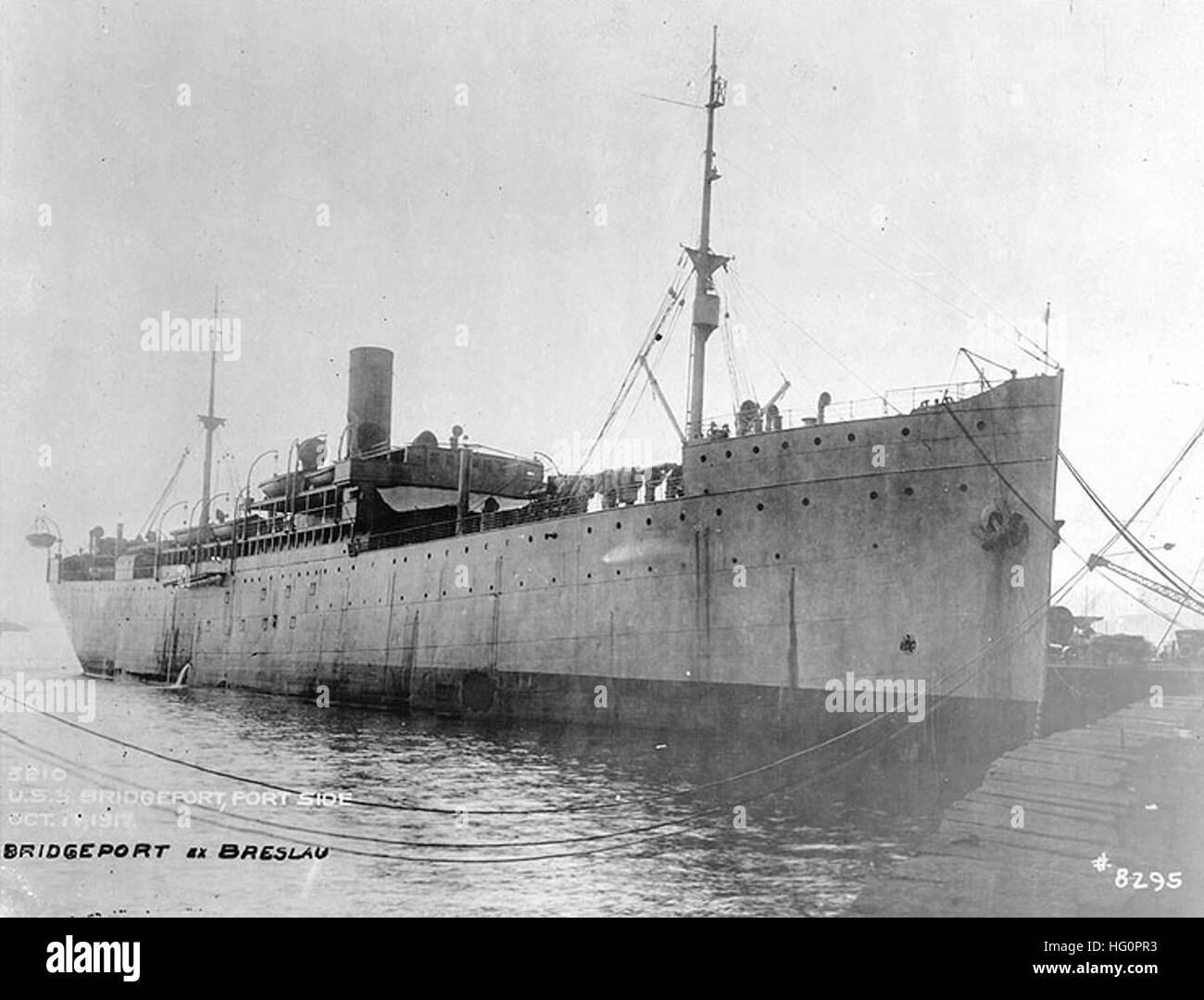 USS Bridgeport (AD-15) Stock Photo