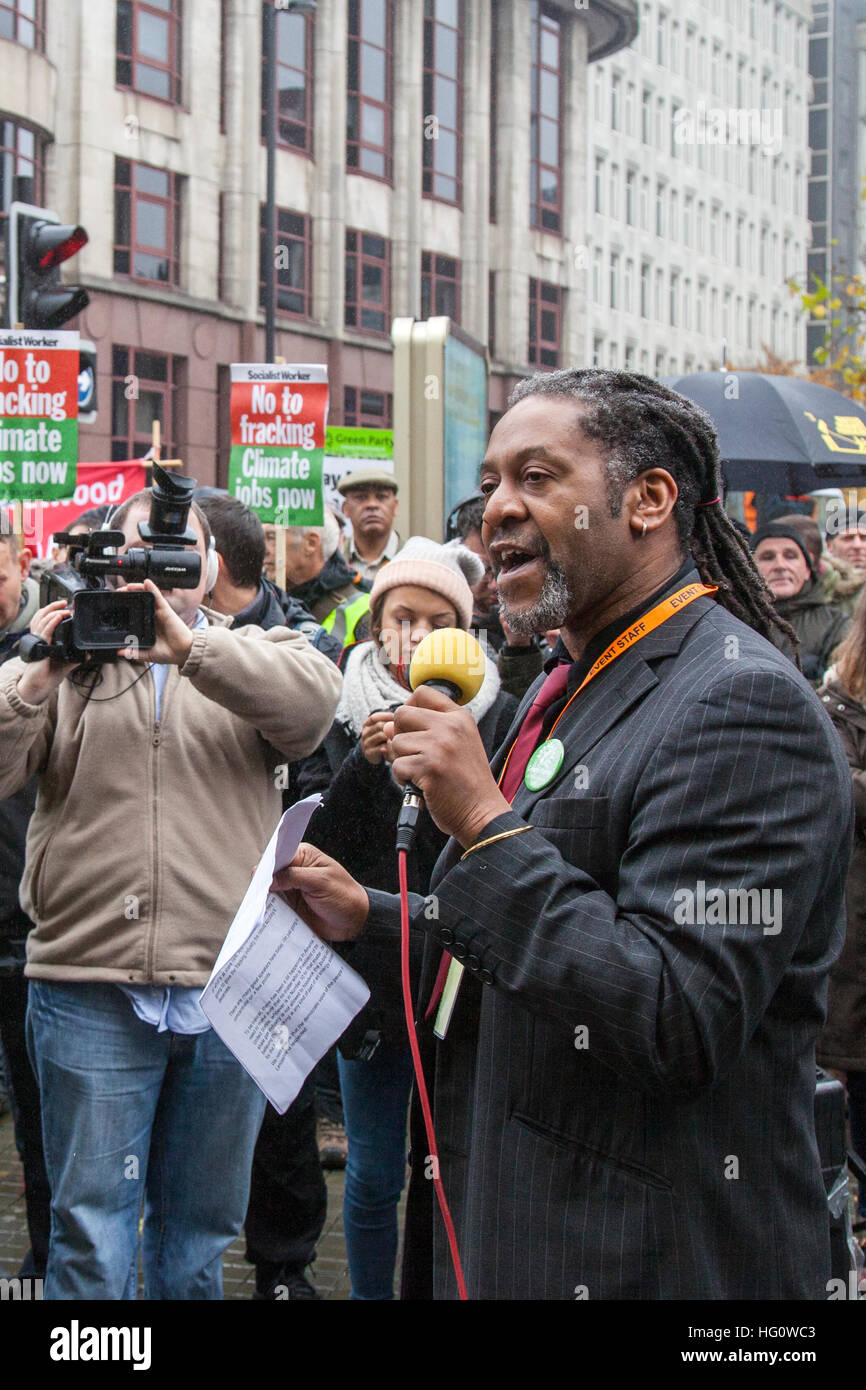 Manchester, UK 2nd January, 2017. Deyika Nzeribe, 50, the Green Party's candidate for Manchester's mayoral elections - Stock Image
