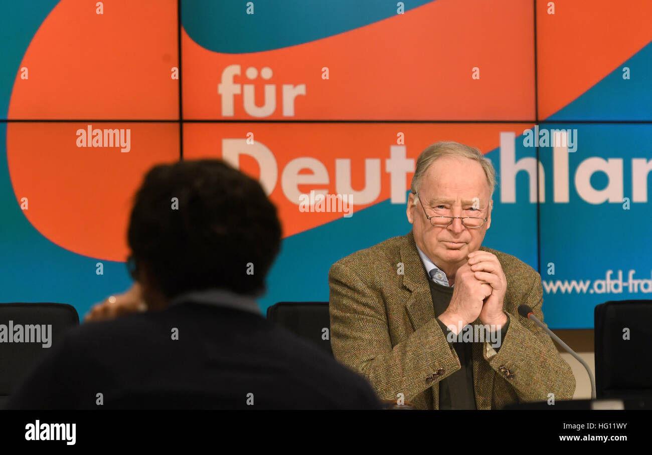 Potsdam, Germany. 03rd Jan, 2017. The deputy head of the rightwing nationalist party Alternative for Germany (AfD) - Stock Image