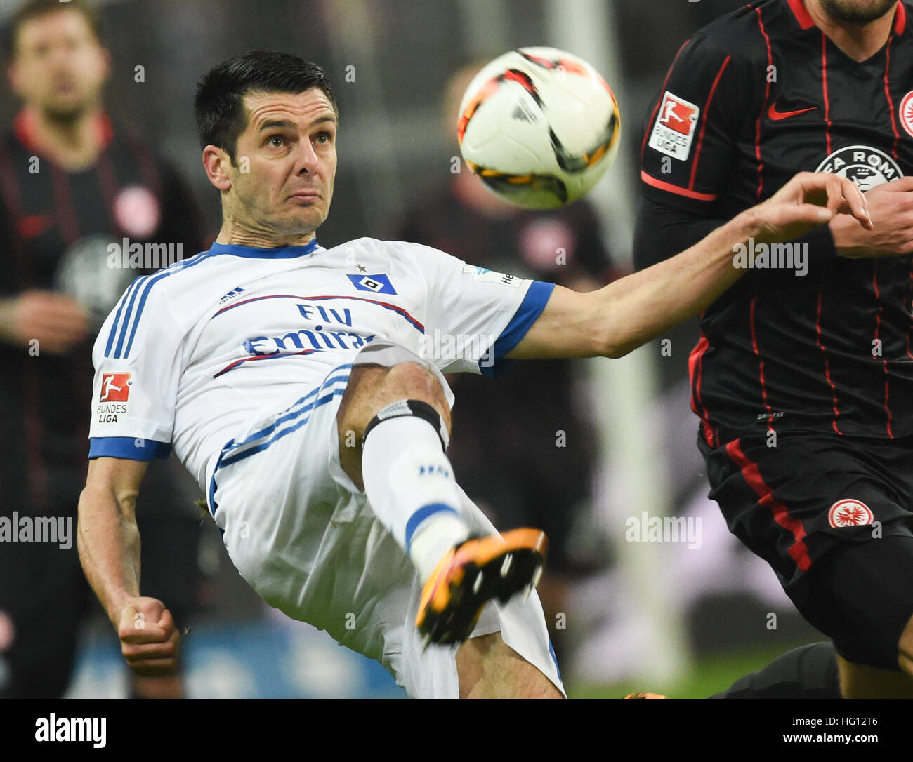 ARCHIVE - An archive image dated 19 Febuary 2016 shows Hamburg's Emir Spahic in action during a German Bundesliga - Stock Image