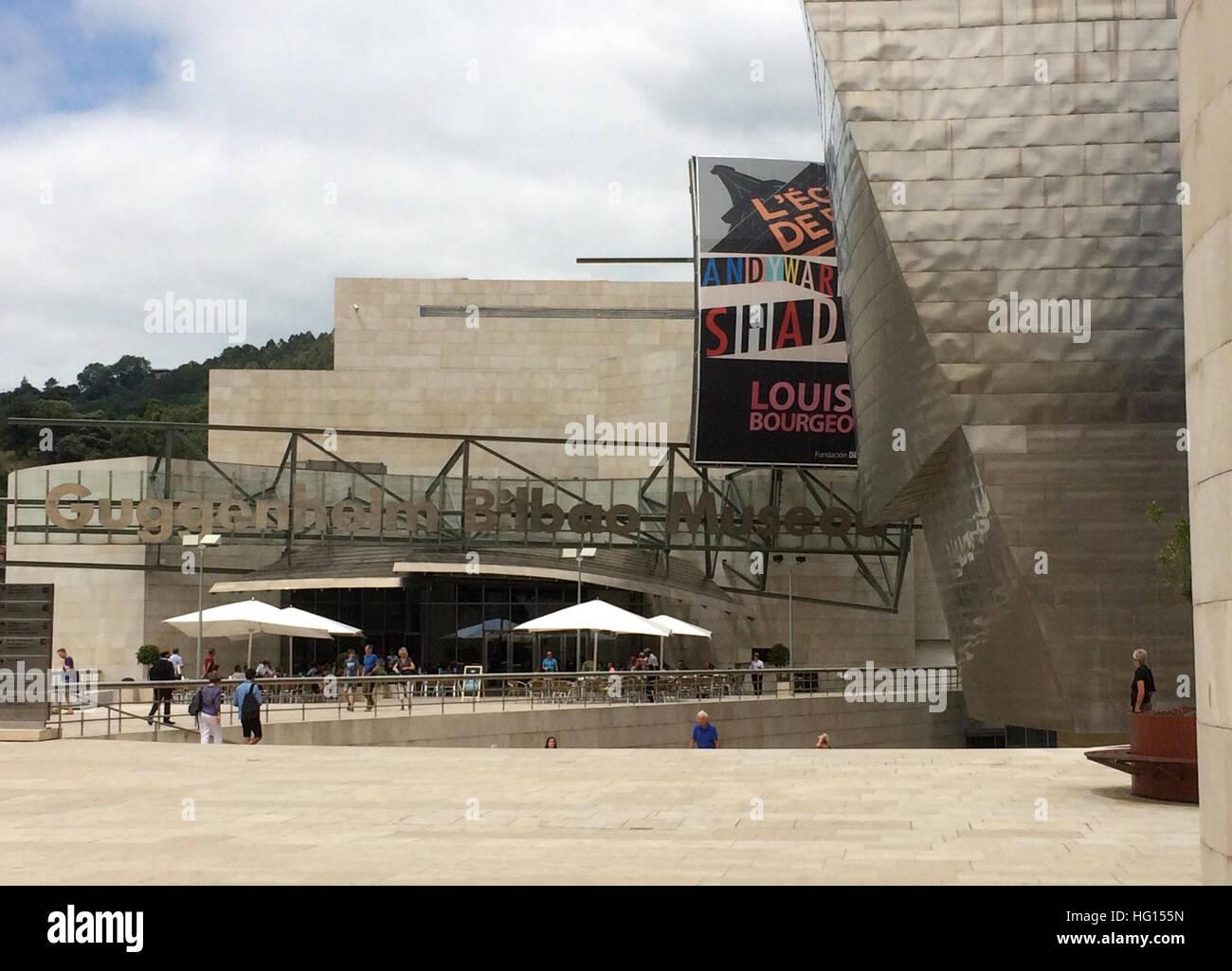 Bilbao, Spanien. 28th July, 2016. Das Guggenheim Museum in Bilbao (Spanien), aufgenommen am 28.07.2013. Mehr als Stock Photo