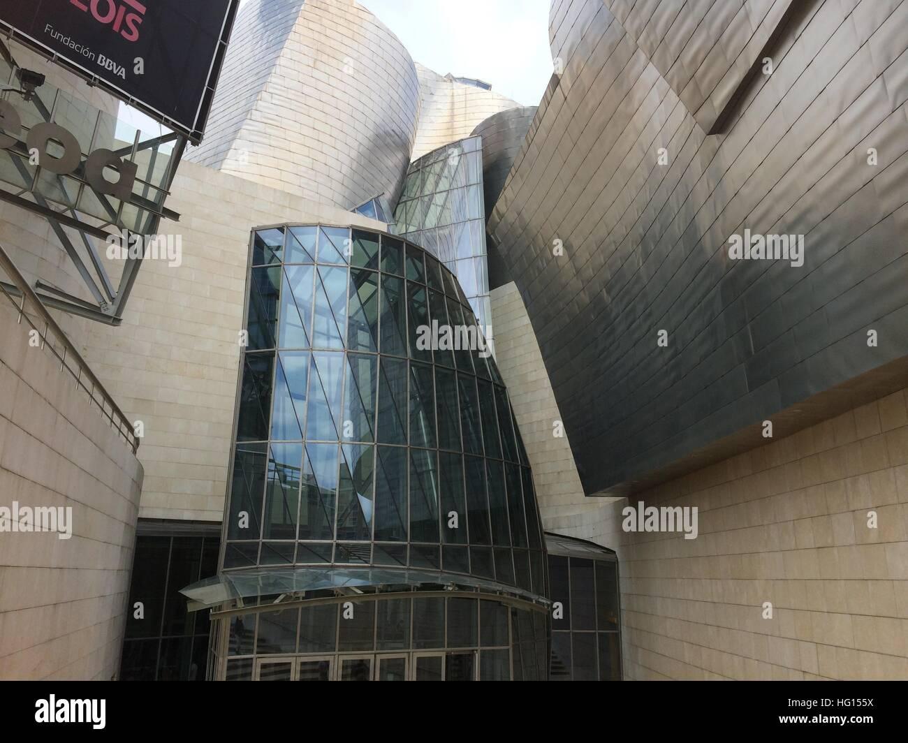 Bilbao, Spanien. 28th July, 2016. Das Guggenheim Museum in Bilbao (Spanien), aufgenommen am 22.06.2013. Mehr als Stock Photo
