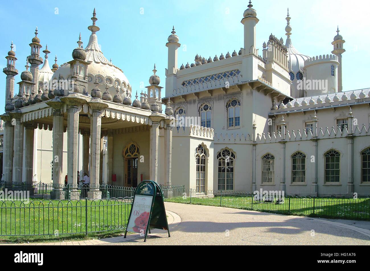 Brighton Royal Pavilion. - Stock Image