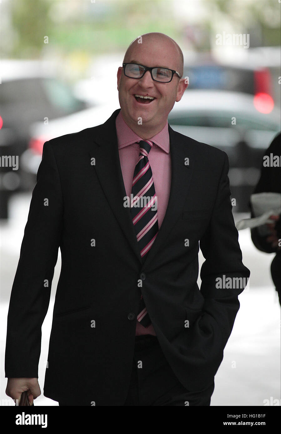 Paul Nuttall MEP  seen at the BBC Studios in London, UK , 20, Nov 2016 Stock Photo