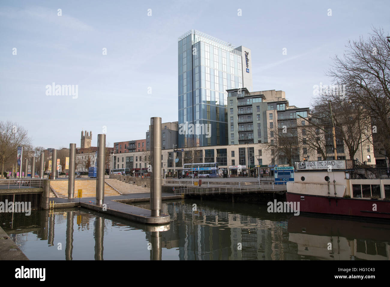 The Radisson Blu hotel on Broad Quay on the waterfront in Bristol England UK - Stock Image