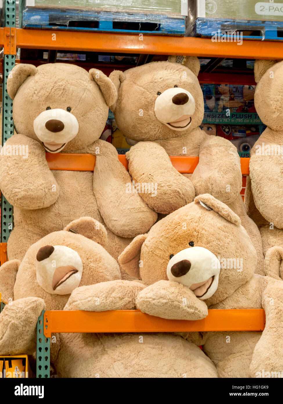 giant teddy bears are for sale at a display in a laguna niguel ca stock photo 130342109 alamy. Black Bedroom Furniture Sets. Home Design Ideas
