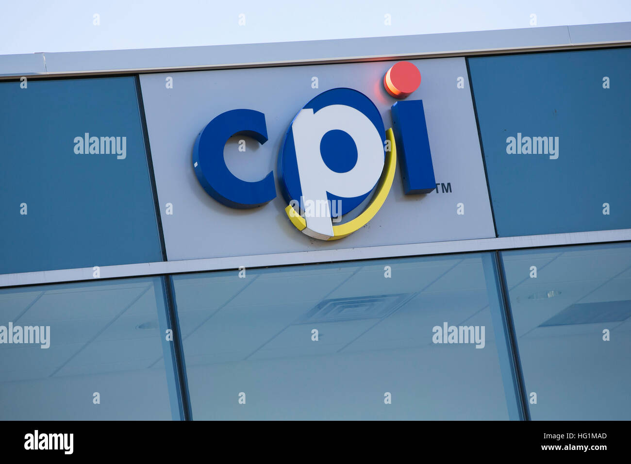 A logo sign outside of the headquarters of Crane Payment Innovations in Malvern, Pennsylvania on December 10, 2016. - Stock Image
