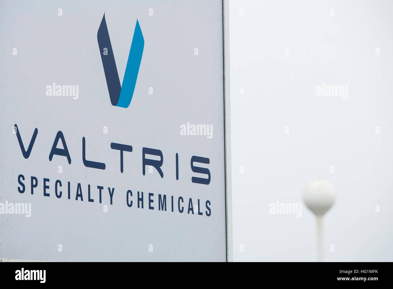 A logo sign outside of a facility occupied by Valtris Specialty Chemicals in Swedesboro, New Jersey on December - Stock Image