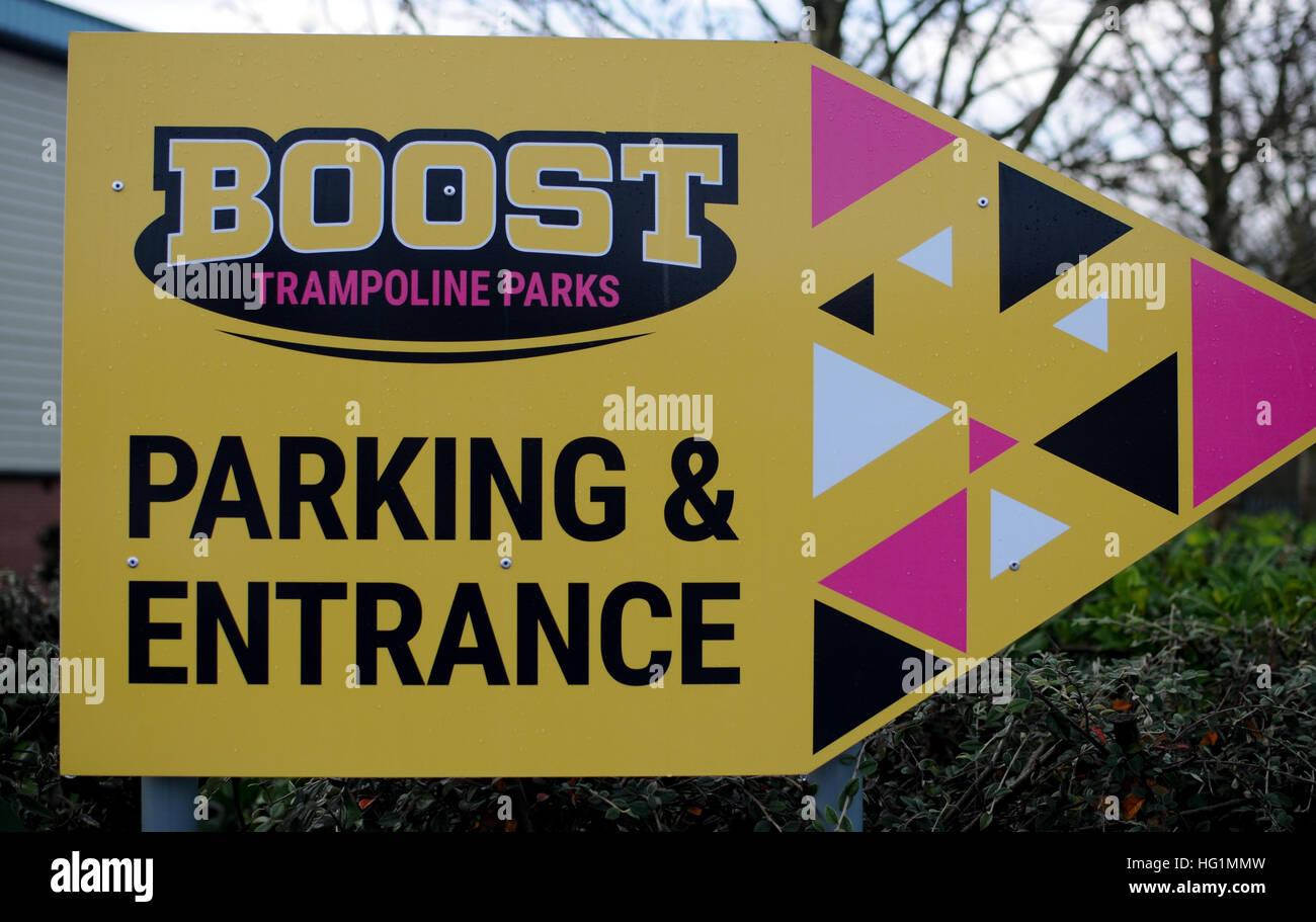 Boost trampoline centre - Stock Image