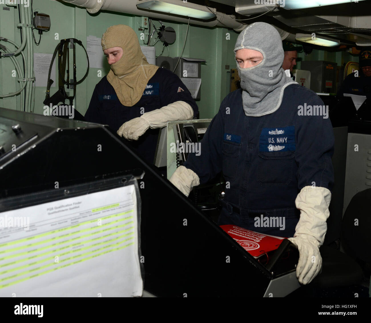 u s navy engineman 2nd class michael harvey left and