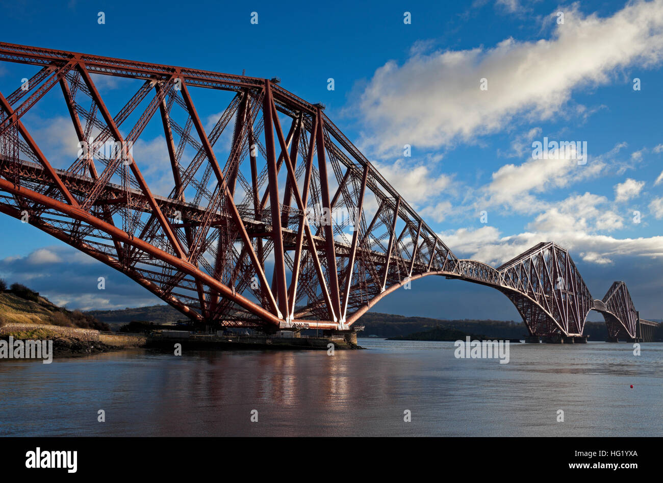 Forth Rail Bridge, North Queensferry, Edinburgh, Scotland - Stock Image