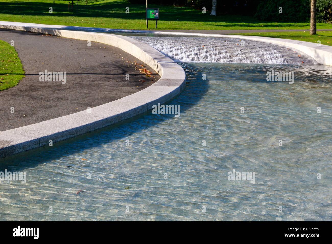 Princess Diana Memorial Fountain in Hyde Park, London - Stock Image