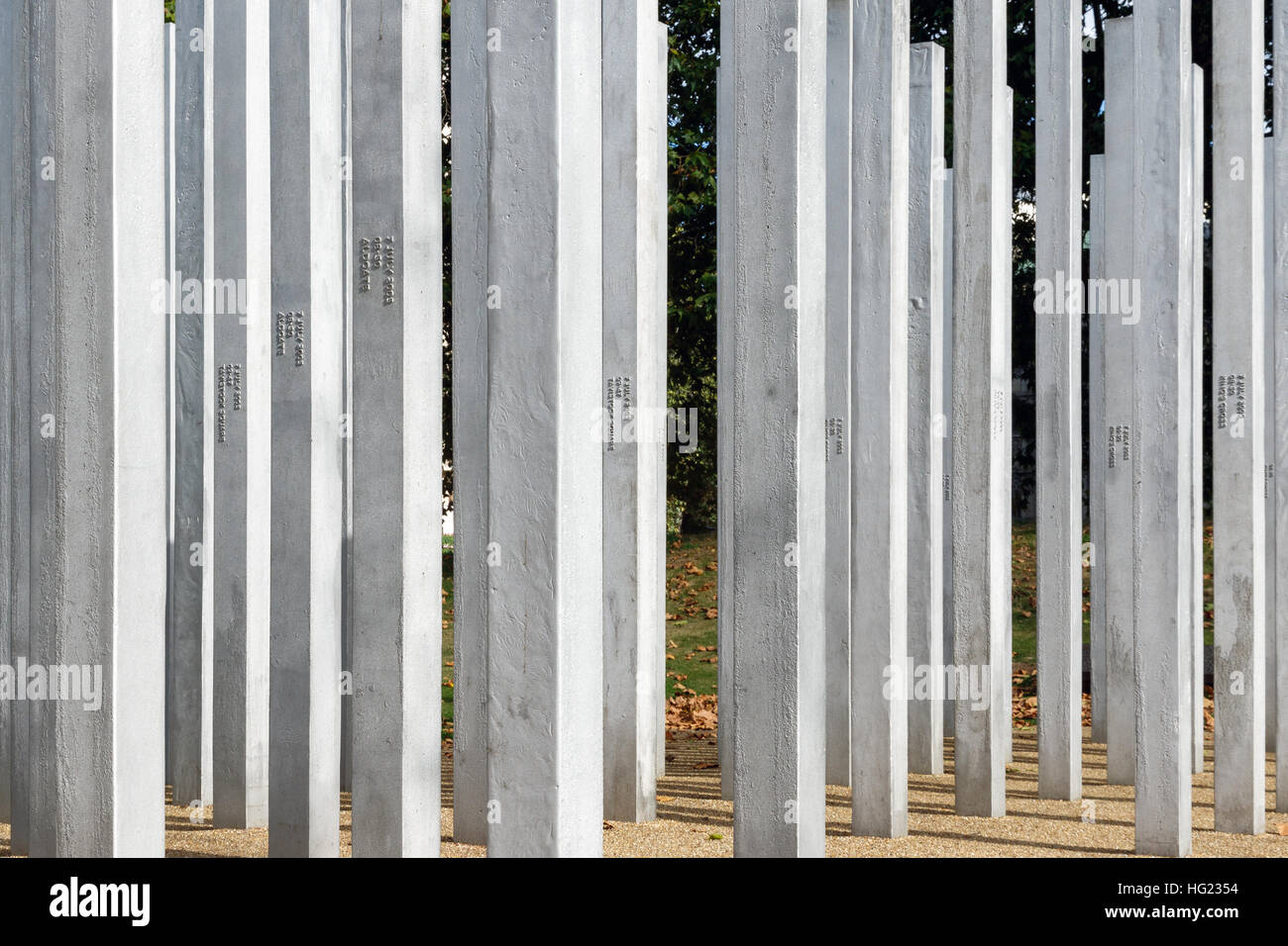 The Memorial in Hyde Park to honour the victims of the 7th July London Bombings - Stock Image