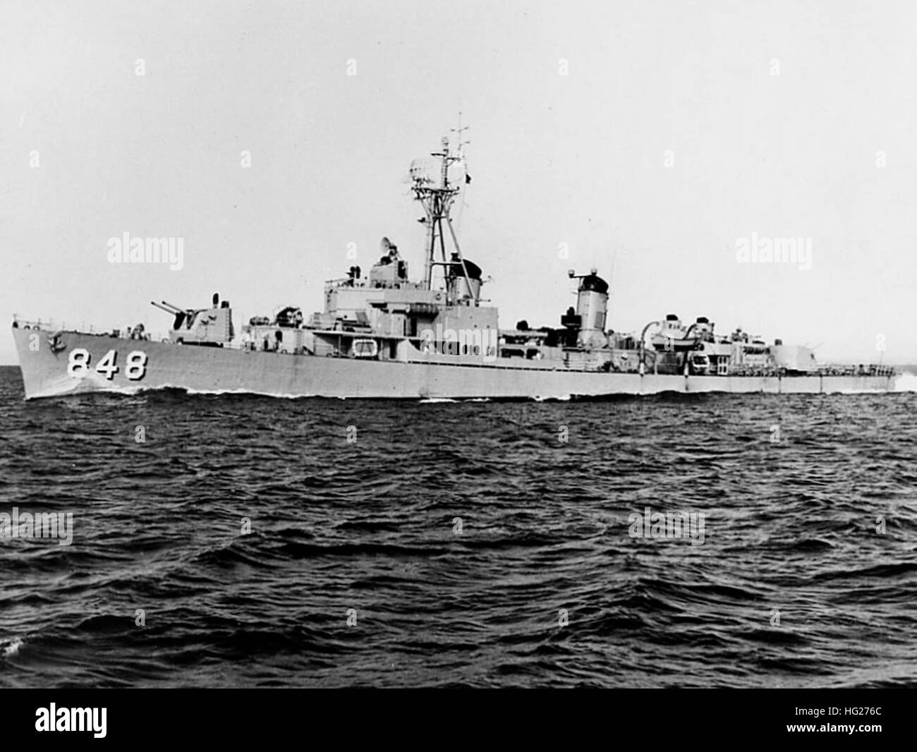 USS Witek (EDD-848) underway on 10 March 1955  Official U.S. Navy Photograph, now in the collections of the National - Stock Image