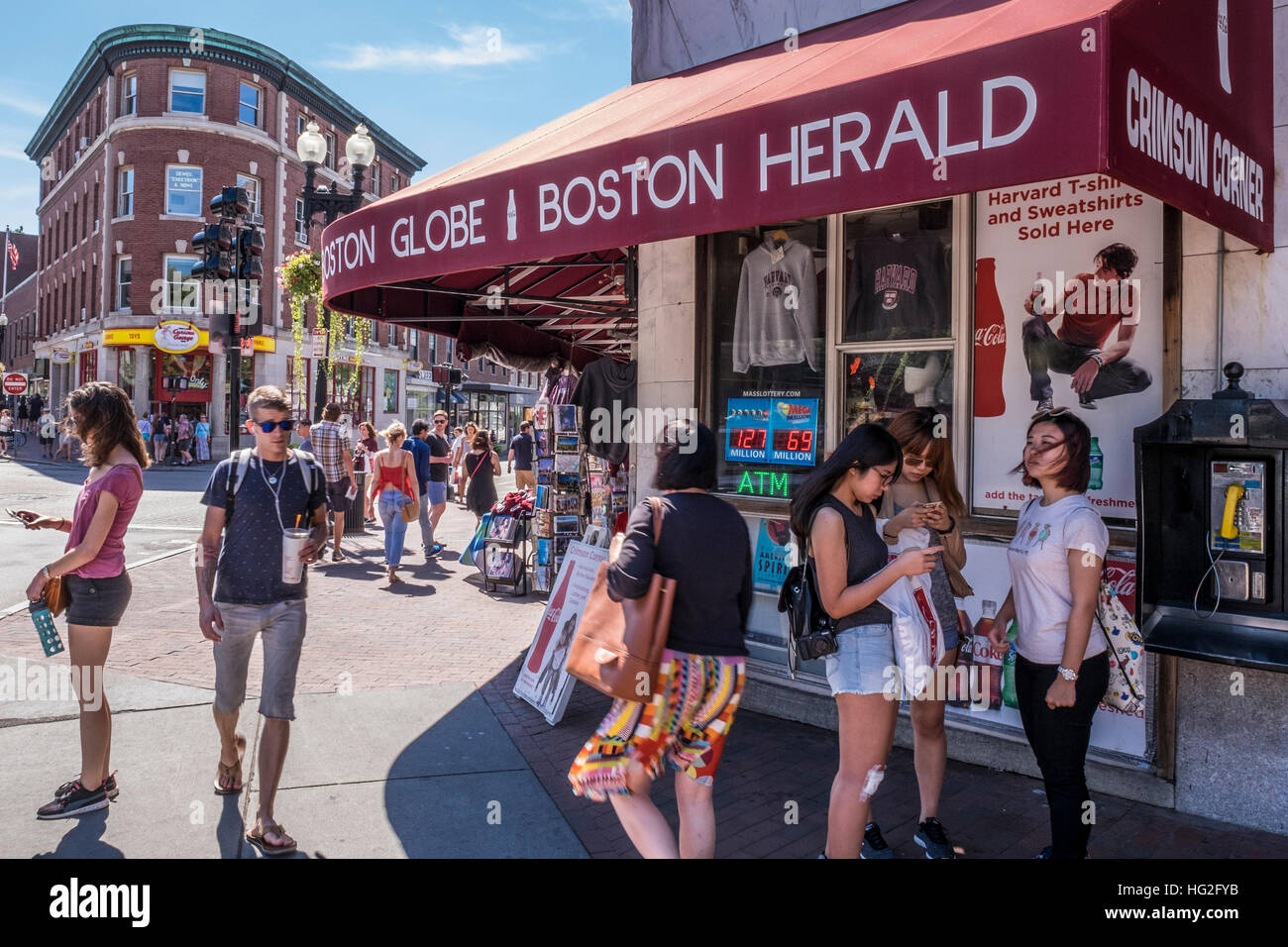 Harvard Square, Cambridge, Massachusetts - Stock Image