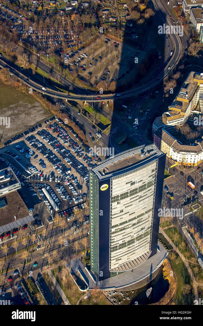Aerial view, ARAG Group ARAG Square, Münsterstraße Mörsenbroicher egg, Dusseldorf, Rhineland, Ruhr - Stock Image