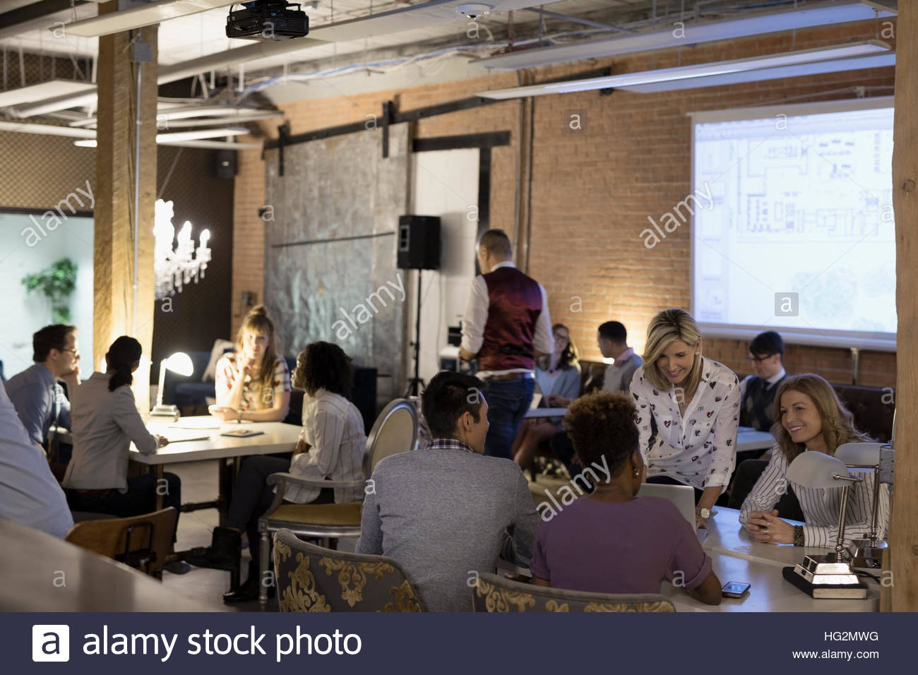 Designers working in focus groups in office - Stock Image