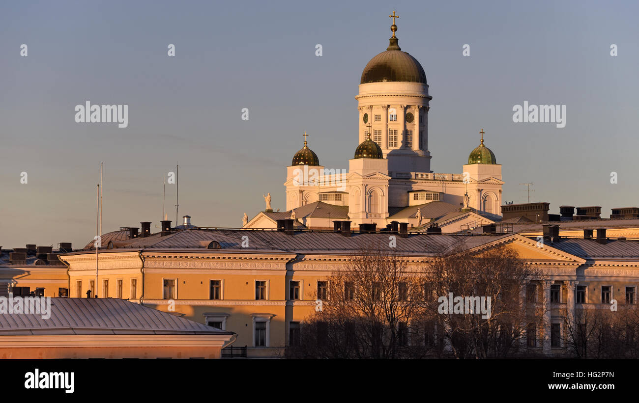 Helsinki Cathedral Finland - Stock Image