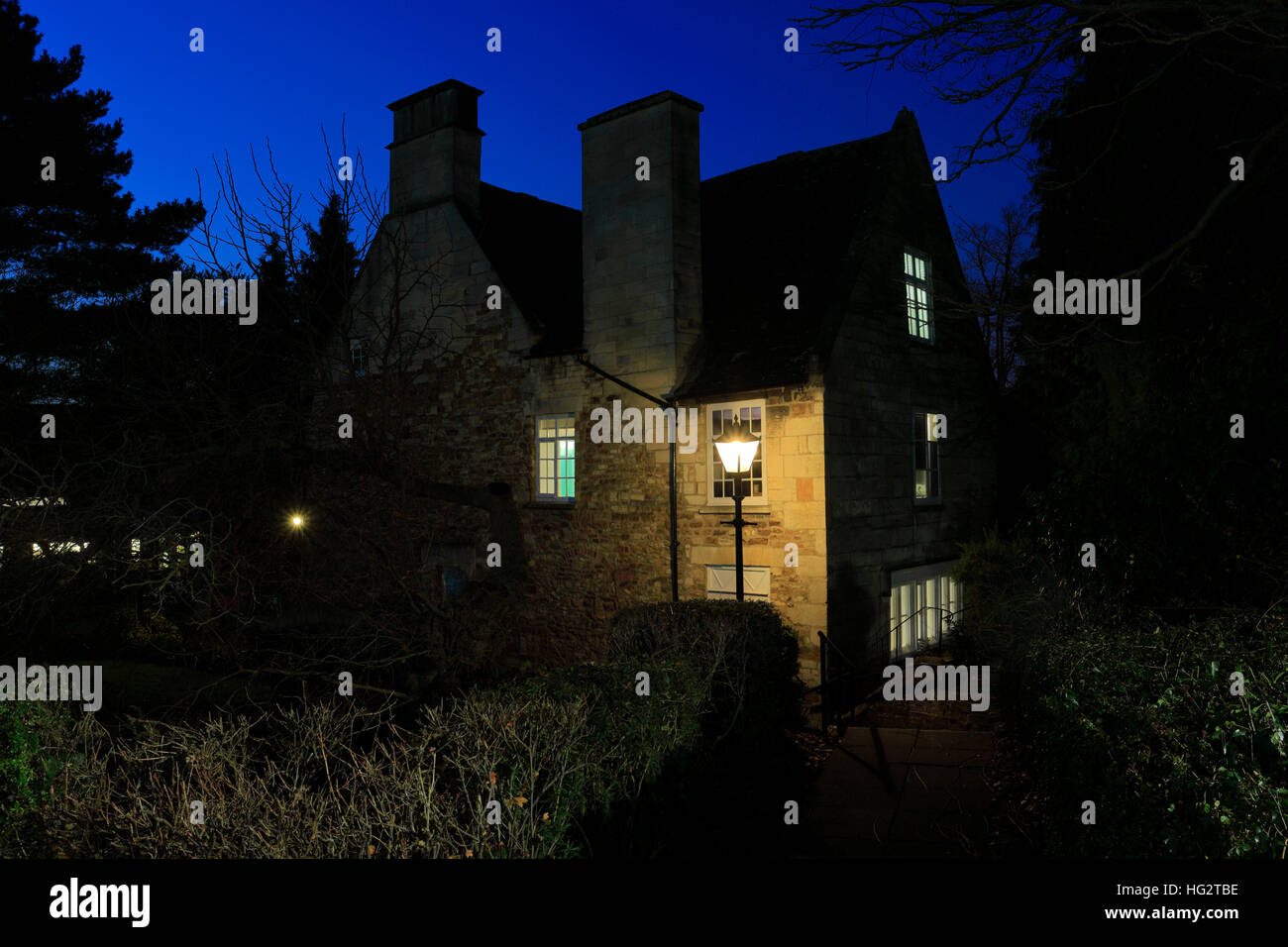 The Manor House Museum, Kettering town, Northamptonshire County, England; Britain; UK - Stock Image
