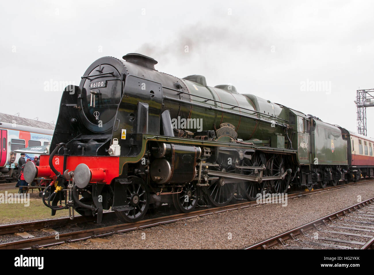 46100 Royal Scot Steam Train at First Great Western St Phillips Marsh Depot, Bristol, England Open Day 02/05/2016. - Stock Image