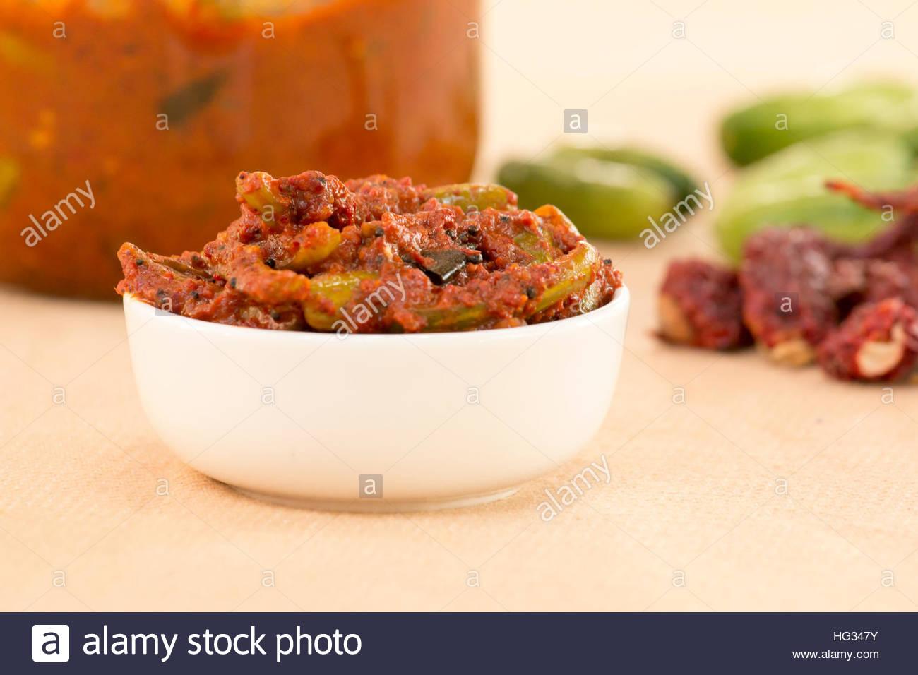 Tendli pickle is a goan delicacy. - Stock Image