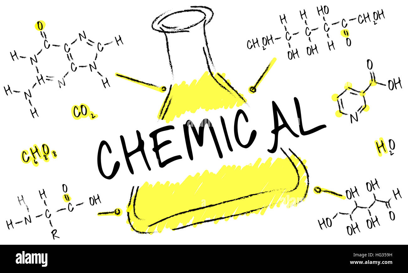 Science Experiment Laboratory Formula Chemical Concept - Stock Image