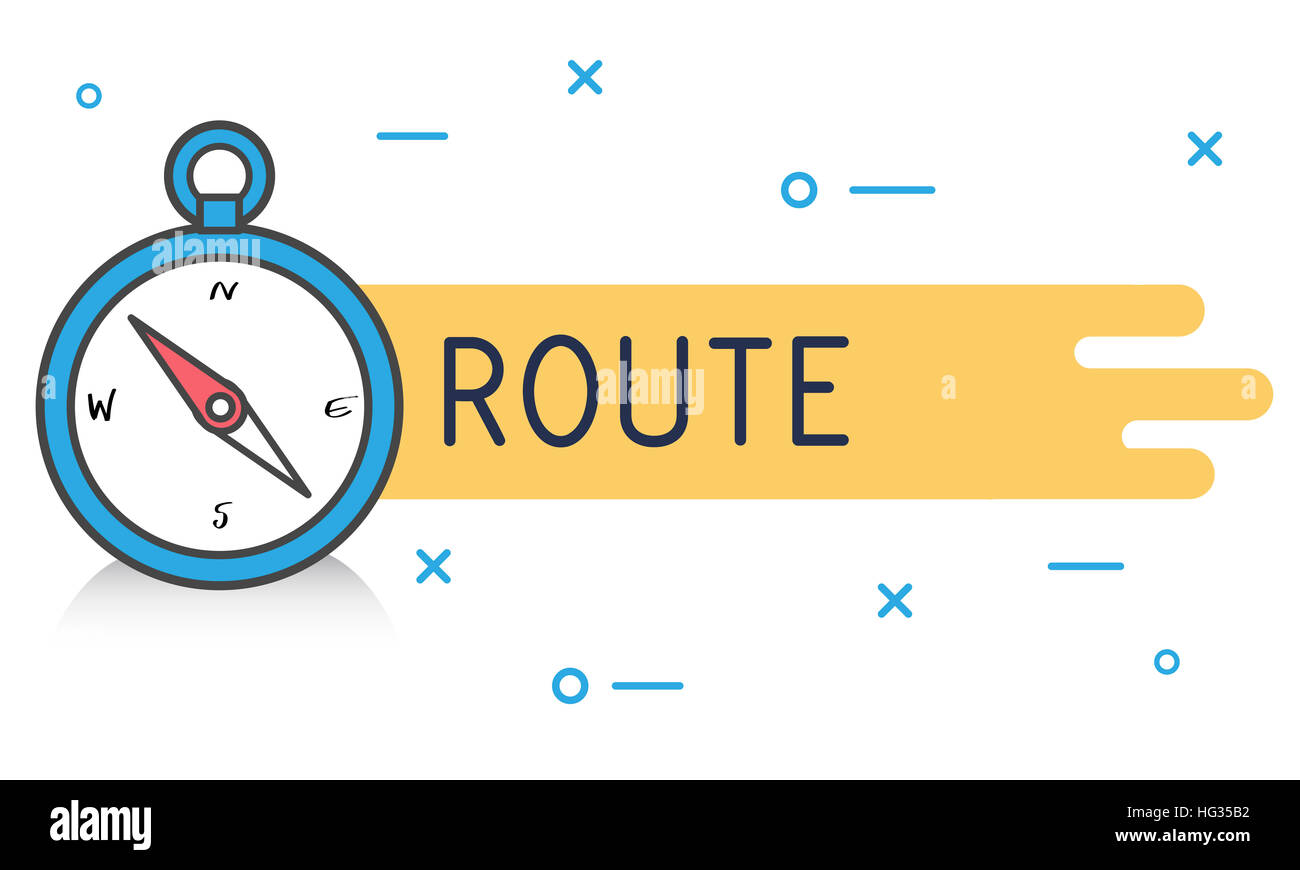 Destination Navigation Compass Graphic Concept - Stock Image