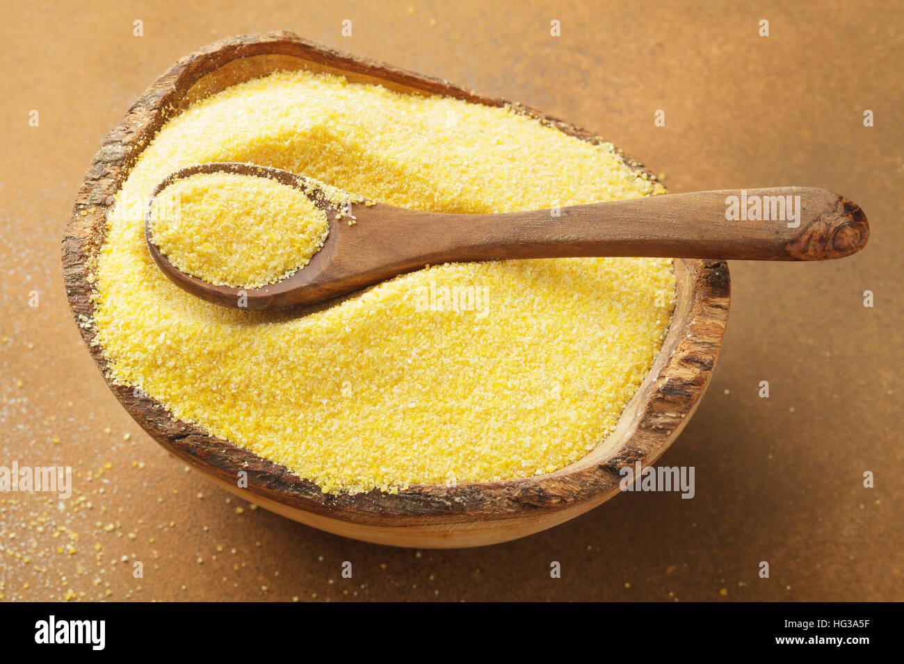 dried polenta - Stock Image