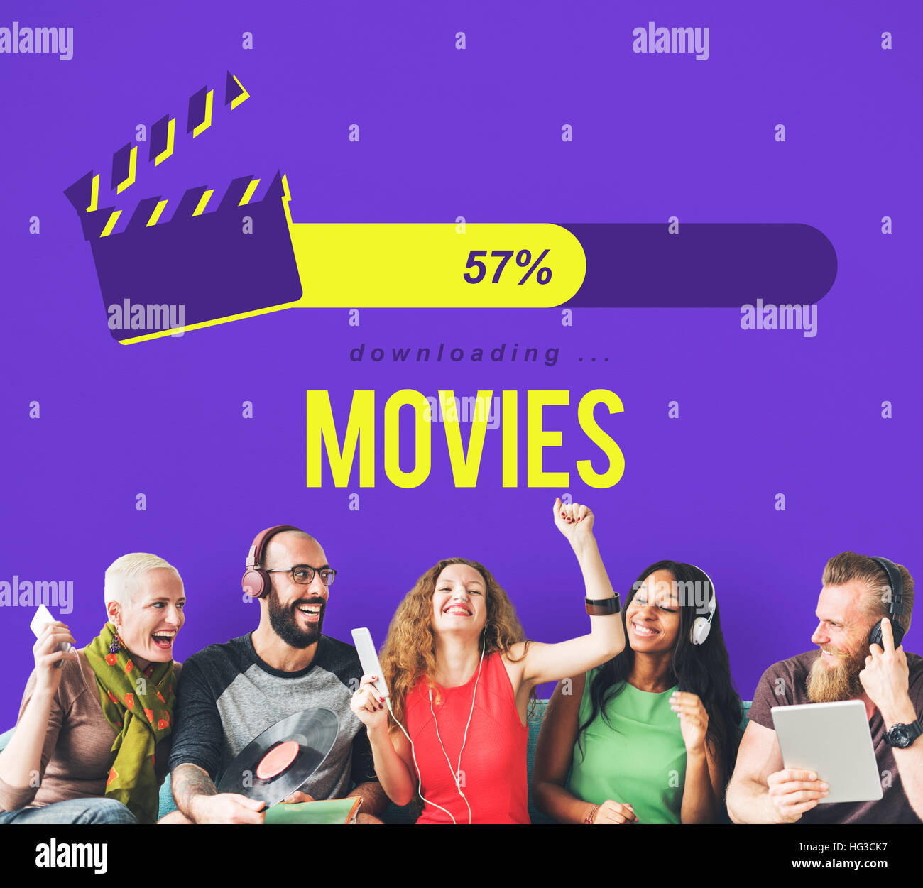 Entertainment Multimedia Theatre Movies Concept - Stock Image