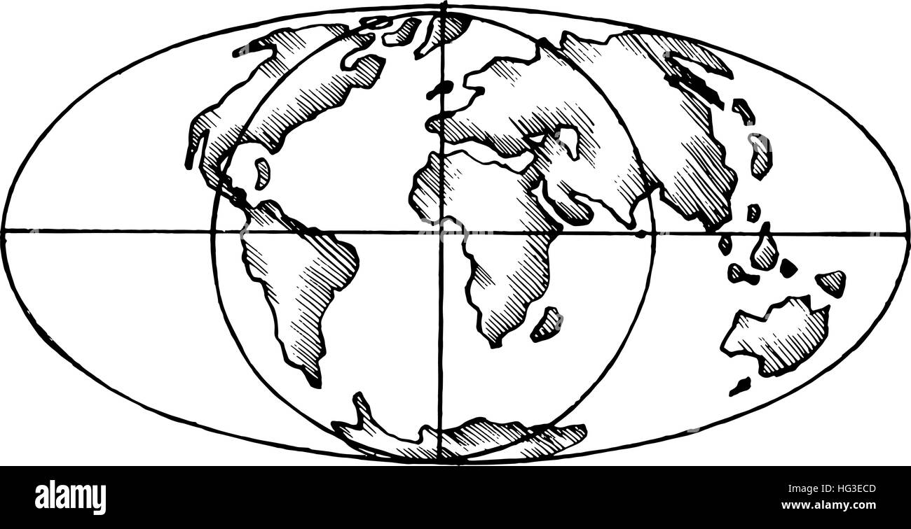 Vector sketch map of the world flat globe the stylized image of vector sketch map of the world flat globe the stylized image of isolated gumiabroncs Images